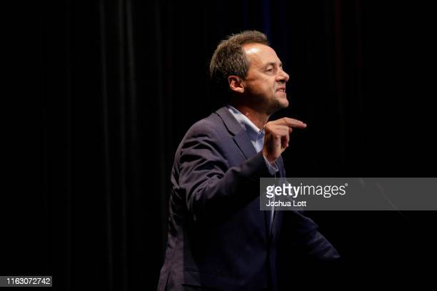 Presidential candidate, Governor of Montana, Steve Bullock speaks at the Iowa Federation Labor Convention on August 21, 2019 in Altoona, Iowa....