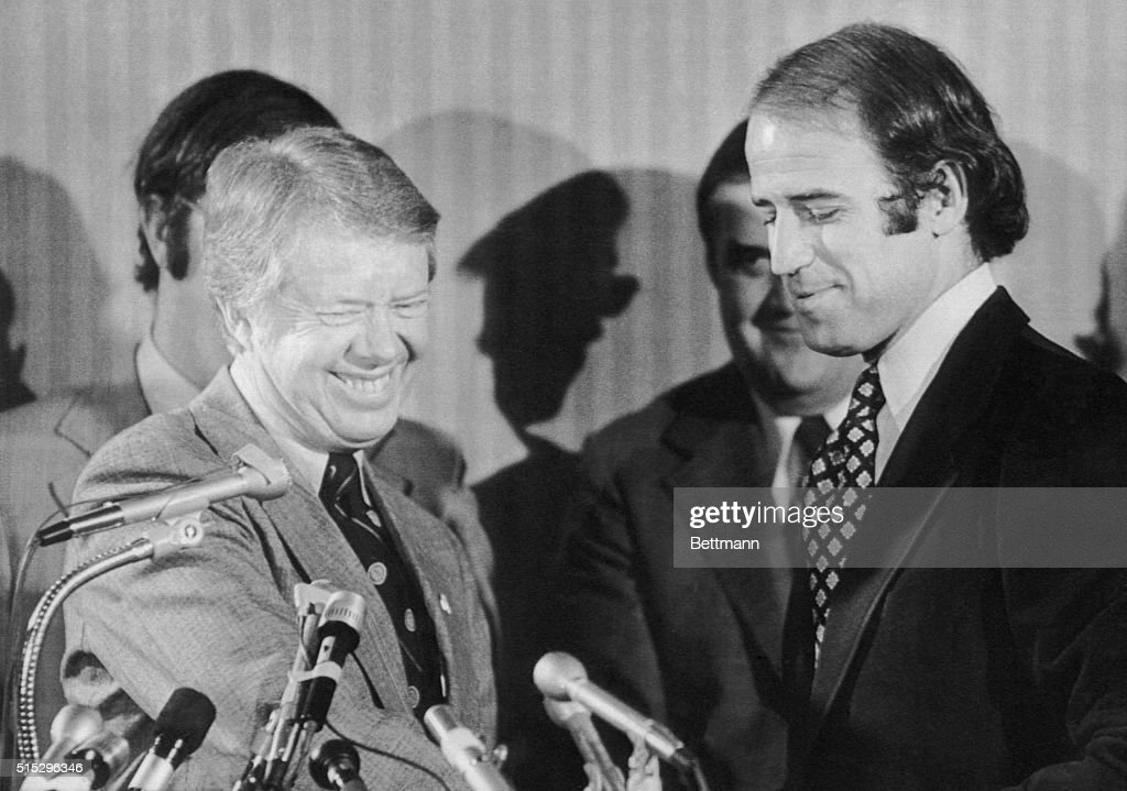 Presidential candidate Jimmy Carter accepts the support of Senator ...
