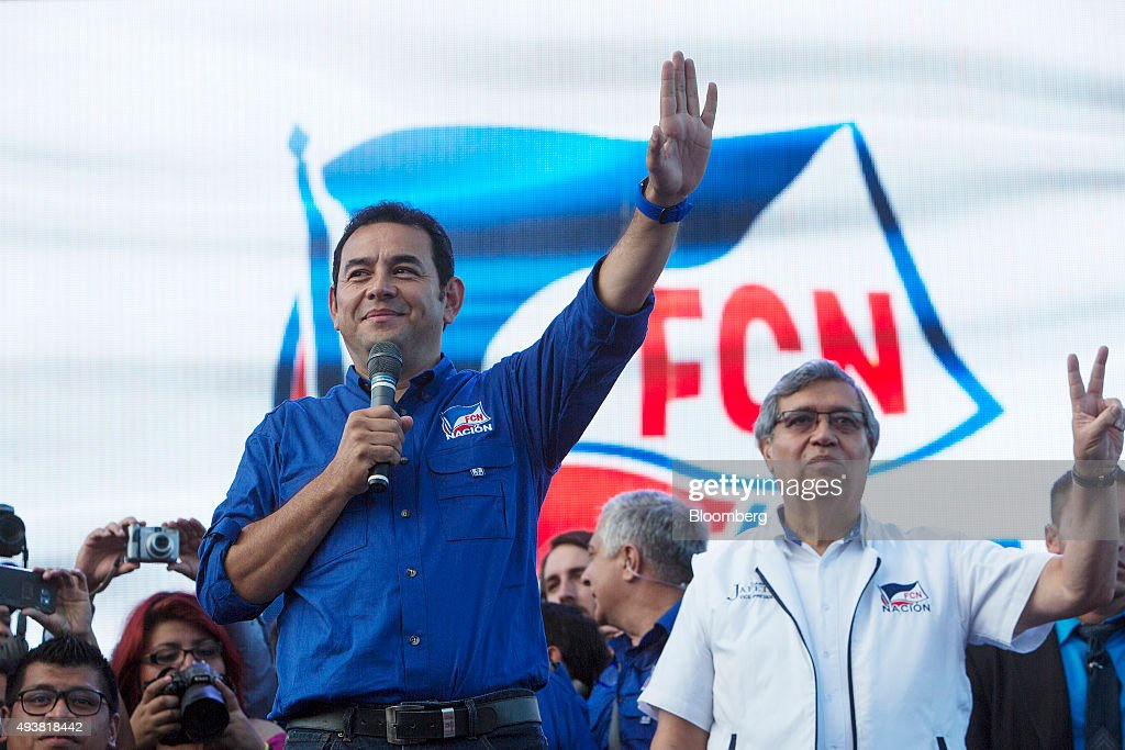 Presidential Candidate Jimmy Morales Campaign Rally : News Photo