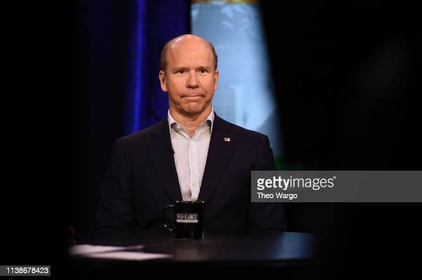 Presidential candidate John Delaney attends a taping of WSJ At Large with Gerry Baker at Fox Business Network Studios on March 27 2019 in New York...