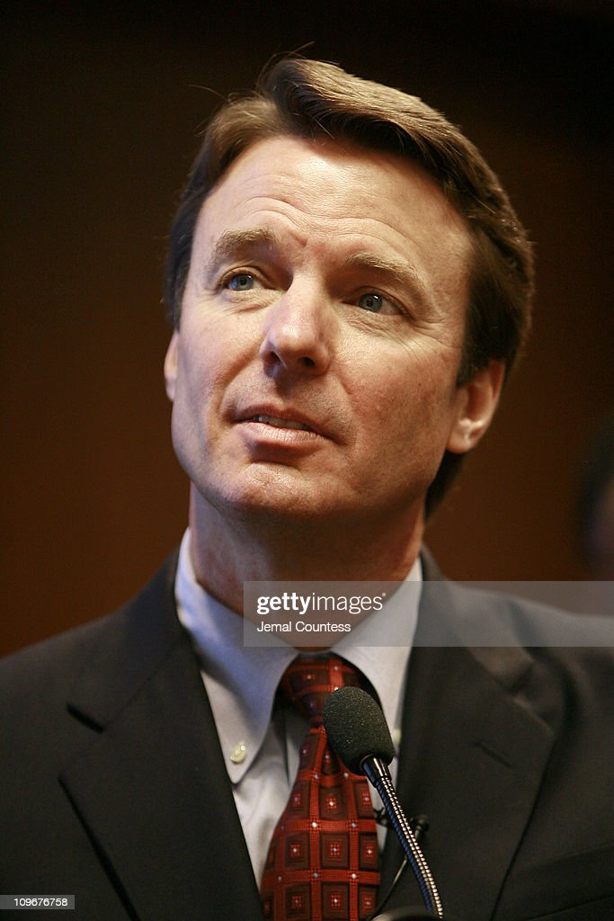 "Presidential Candidate John Edwards Holds Press Conference Following the ""Leadership Forum on the Working Poor"""
