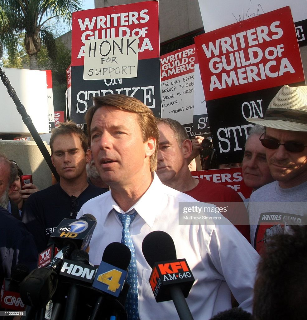 John Edwards Rally at NBC Studios