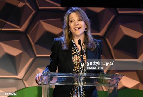 Presidential Candidate Marianne Williamson speaks onstage at the EMA IMPACT Summit - Day Two at Montage Beverly Hills on May 30, 2019 in Beverly...
