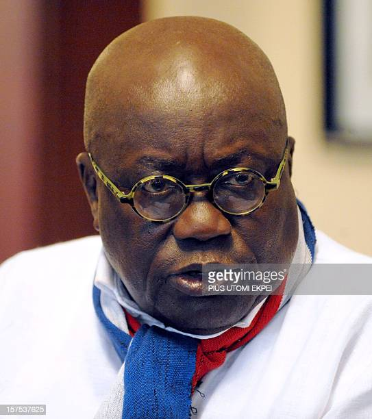 Presidential candidate of the main opposition party New Patriotic Party Nana AkufoAddo is pictured during a press conference on December 4 2012 in...
