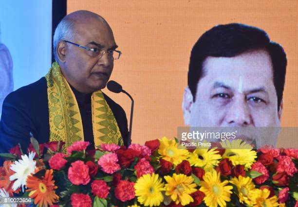 Presidential Candidate Ram Nath Kovind addressing in Guwahati on Thursday July 06 2017 Kovind is in Guwahati to campaign for the presidential poll