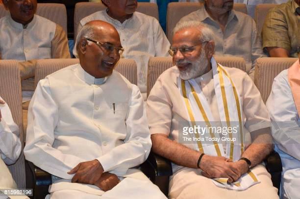 Presidential candidate Ram Nath Kovind and Prime Minister Narendra Modi at an NDA meeting in New Delhi