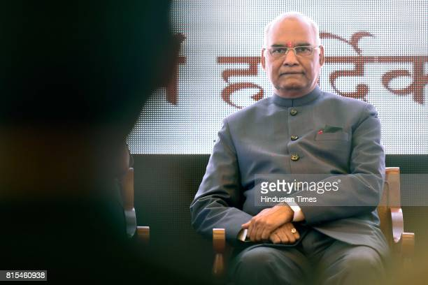 Presidential candidate Ramnath Kovind arrives to address a meeting of legislators and MPs at Garware Club Marine Drive on July 15 in Mumbai India The...