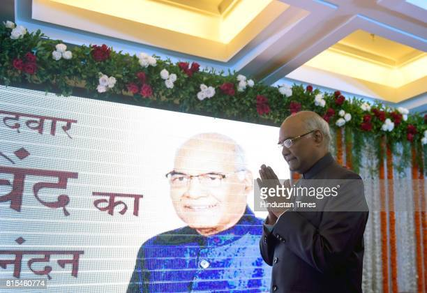 Presidential candidate Ramnath Kovind at Garware Club Marine Drive on July 15 in Mumbai India The voting for the presidential election is scheduled...