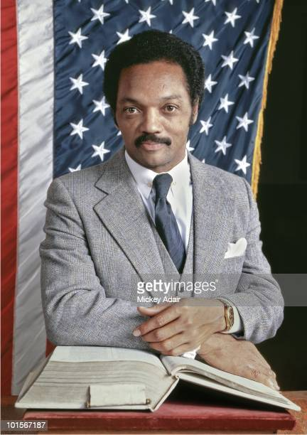Presidential candidate Rev Jesse Jackson poses for a portrait in 1984 in Tallahassee Florida