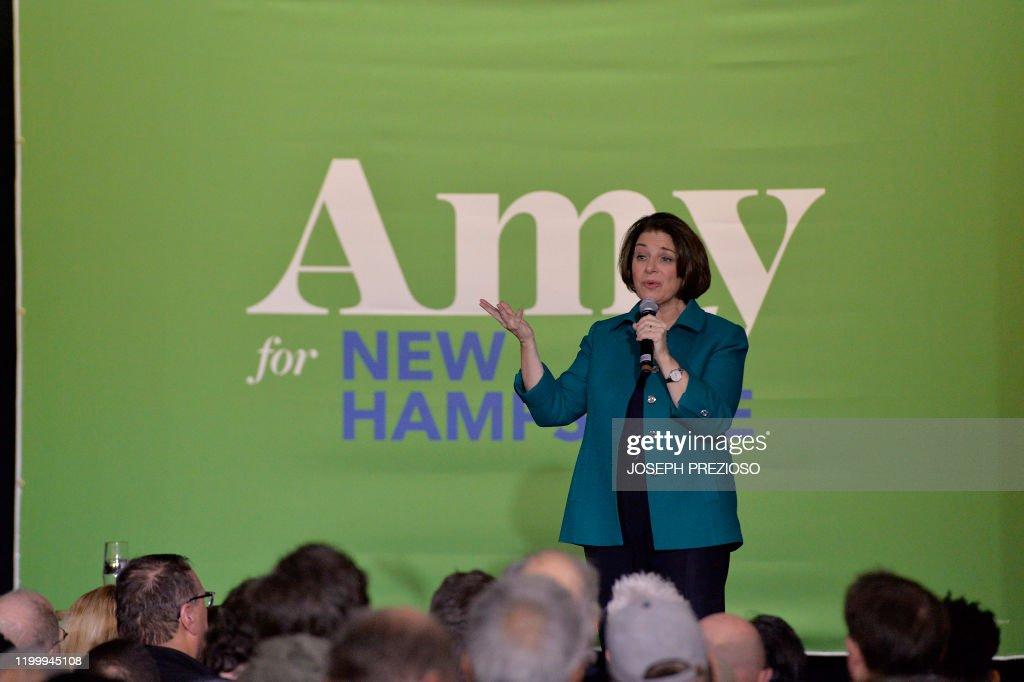 US-politics-vote-Democrats-Klobuchar : News Photo