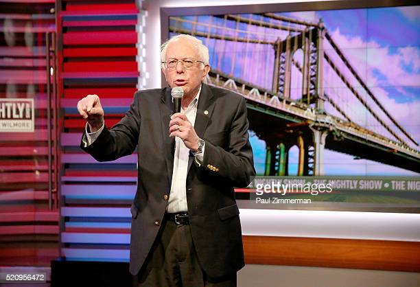 "Presidential Candidate Senator Bernie Sanders has a mic drop moment about ""New York Values"" during his fourth appearance on Comedy Central's ""The..."