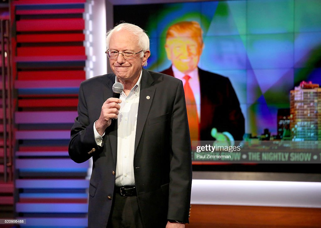 "Senator Bernie Sanders Makes Fourth Appearance on Comedy Central's ""The Nightly Show With Larry Wilmore"" April 13, 2016"