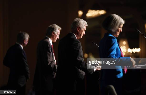 Presidential candidates Jill Stein of the Green Party, Rocky Anderson of the Justice Party, Virgil Goode of the Constitution Party and Gary Johnson...