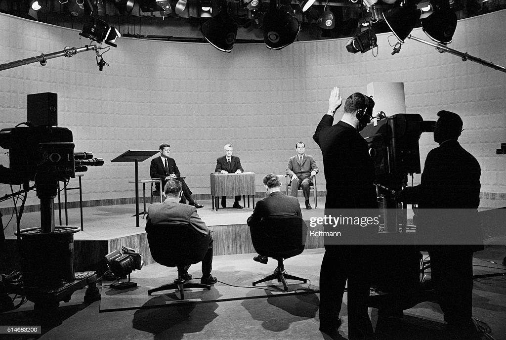 Kennedy-Nixon Presidential Debate : News Photo