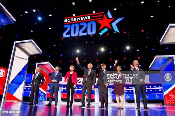 2020 presidential candidates Michael Bloomberg founder of Bloomberg LP from left Pete Buttigieg former mayor of South Bend Senator Elizabeth Warren a...