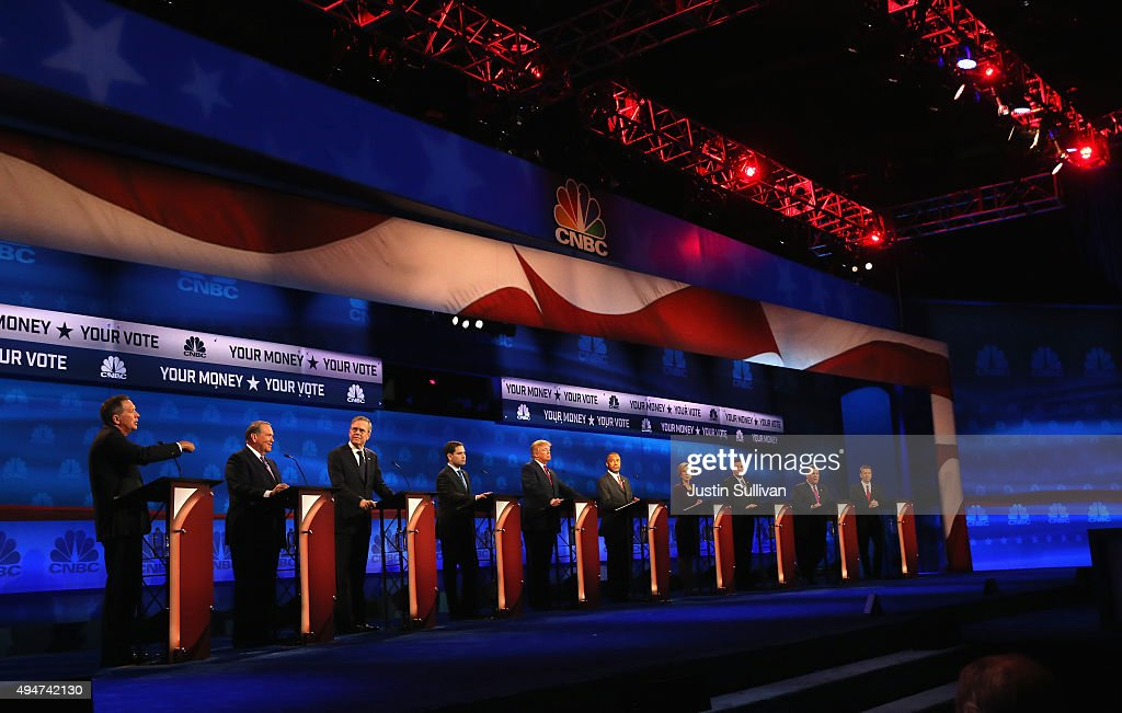 Republican Presidential Candidates Hold Third Debate In Colorado : News Photo
