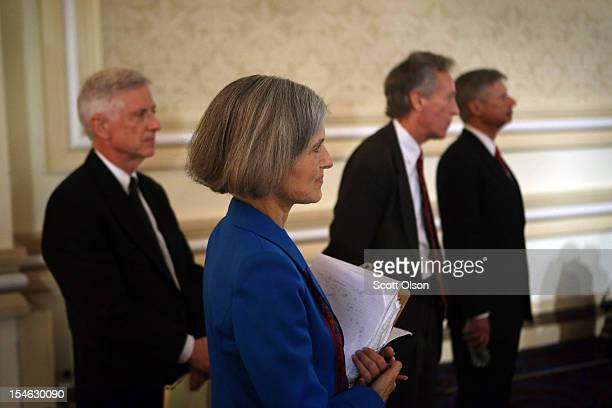Presidential candidates Rocky Anderson of the Justice Party Jill Stein of the Green Party Virgil Goode of the Constitution Party and Gary Johnson of...