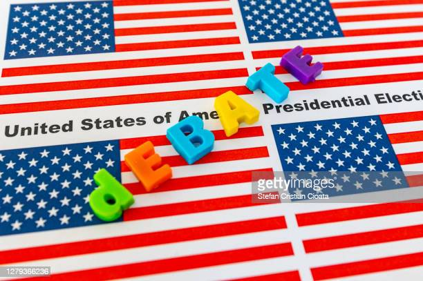 usa presidential election 2020 debate - presidential debate stock pictures, royalty-free photos & images