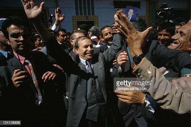 Presidential election Abdelaziz Bouteflika in the East of country In Algeria In April 1999