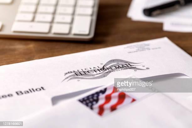 投票での米国大統領選挙不在者メール - 選挙人団 ストックフォトと画像