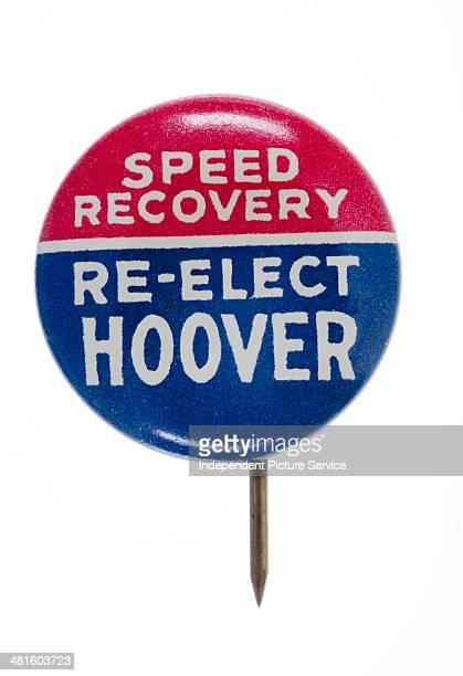 1932 presidential election button pin for Herbert Hoover