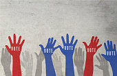 USA presidential election day voting concept