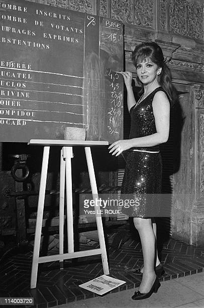 Presidential Election results in Paris France on June 02 1969Gina Lollobrigida