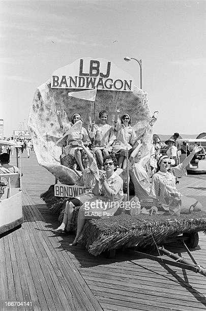 Presidential Elections Democratic Convention In Atlantic City New Jersey Atlantic City 2730 Août et 2 Septembre 1964 La Convention nationale des...