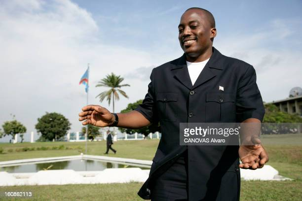 Presidential Elections In The Democratic Republic Of Congo Le président Joseph KABILA pose dans les jardins du palais de la Nation à Kinshasa deux...