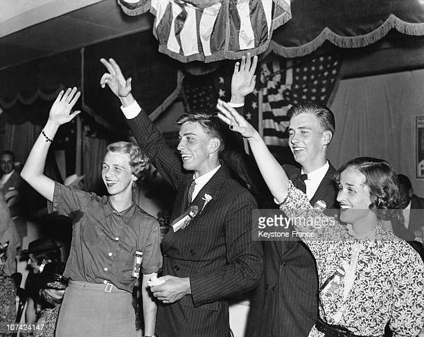 Presidential Family Roosevelt At The Democratic National Convention At Philadelphia In Usa On June 1936