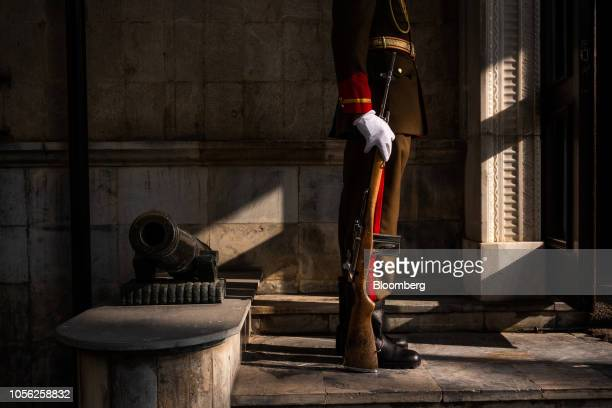 A Presidential Guard stands at a door of the Presidential Palace in Kabul Afghanistan on Thursday Nov 1 2018 Afghan President Ashraf Ghani said the...
