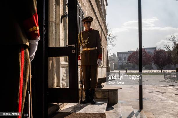 Presidential Guards stand at a door of the Presidential Palace in Kabul Afghanistan on Thursday Nov 1 2018 Afghan President Ashraf Ghani said the...