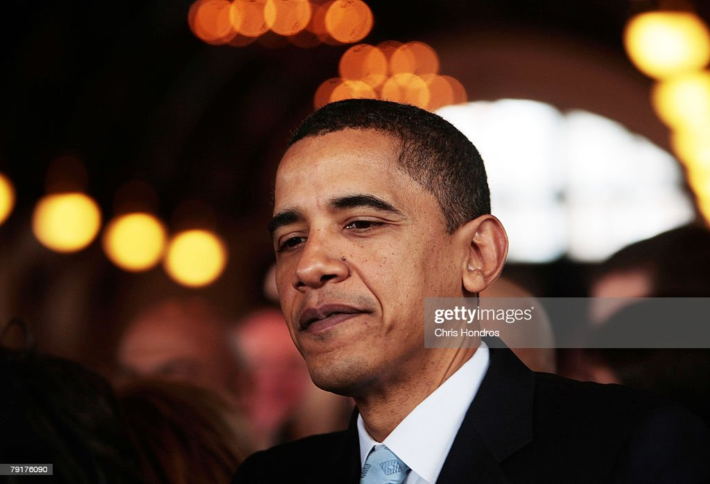Presidential hopeful Sen. Barack Obama (D-IL) leaves after a campaign event January 23, 2008 at Winthrop University in Rock Hill, South Carolina. Obama is campaigning through the state ahead of its Democratic primary on January 26.