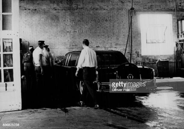 Presidential Limousine At Denver Police Garage behind station Credit Denver Post