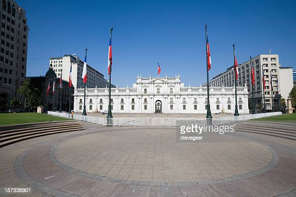 presidential palace chile - santiago chile stock pictures, royalty-free photos & images
