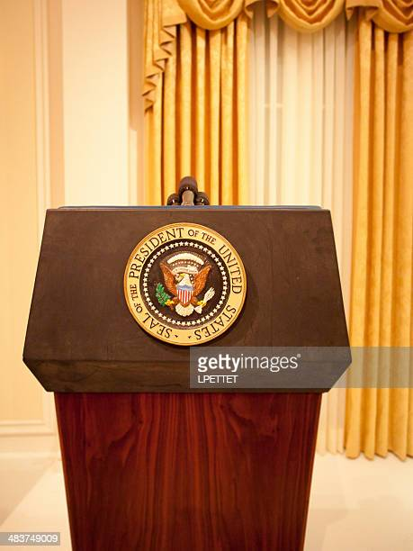 presidential podium - president stock pictures, royalty-free photos & images