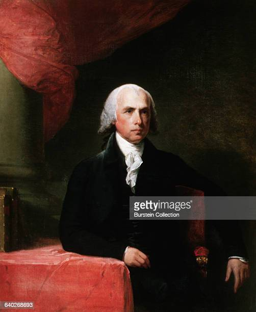 A presidential portrait of James Madison the fourth president of the US from 18091817 | Located in Bowdoin College Museum of Art