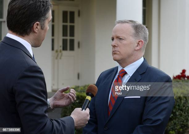 Presidential Press Secretary Sean Spicer apologizes for comments he made suggesting that President Bashar alAssad of Syria was worse than Hitler...