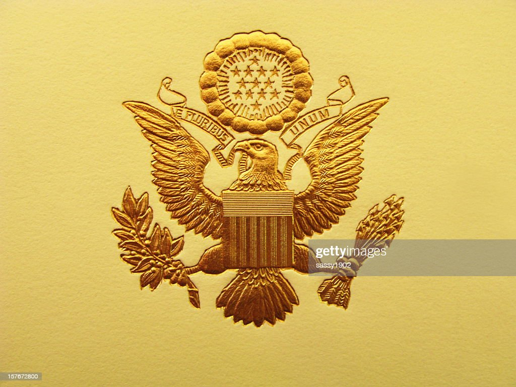 Presidential Seal President USA Coat Of Arms : Stock Photo
