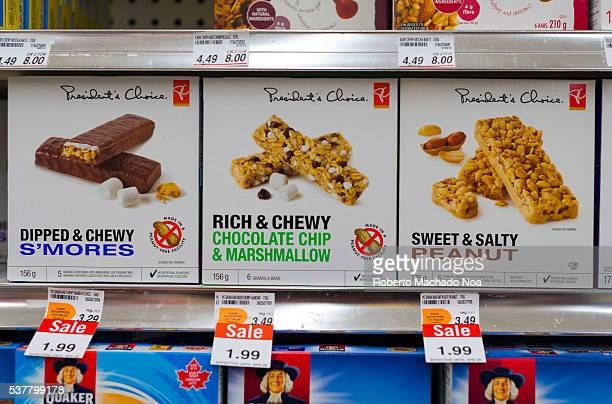President's Choice granola bars selected varieties stack in a store shelf
