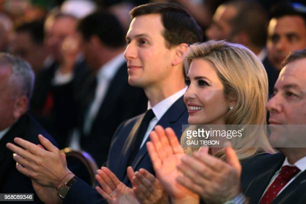 US President's daughter Ivanka Trump and her husband senior White House adviser Jared Kushner attend the official reception on the occasion of the...