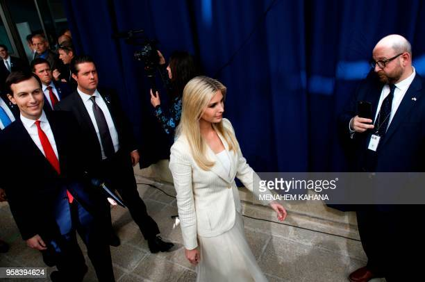President's daughter Ivanka Trump and her husband Senior White House Advisor Jared Kushner arrive for the controversial inauguration of the US...