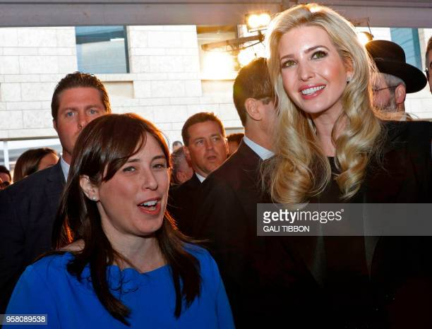 US President's daughter Ivanka Trump and Israeli Deputy Foreign Minister Tzipi Hotovely attend the official reception on the occasion of the opening...