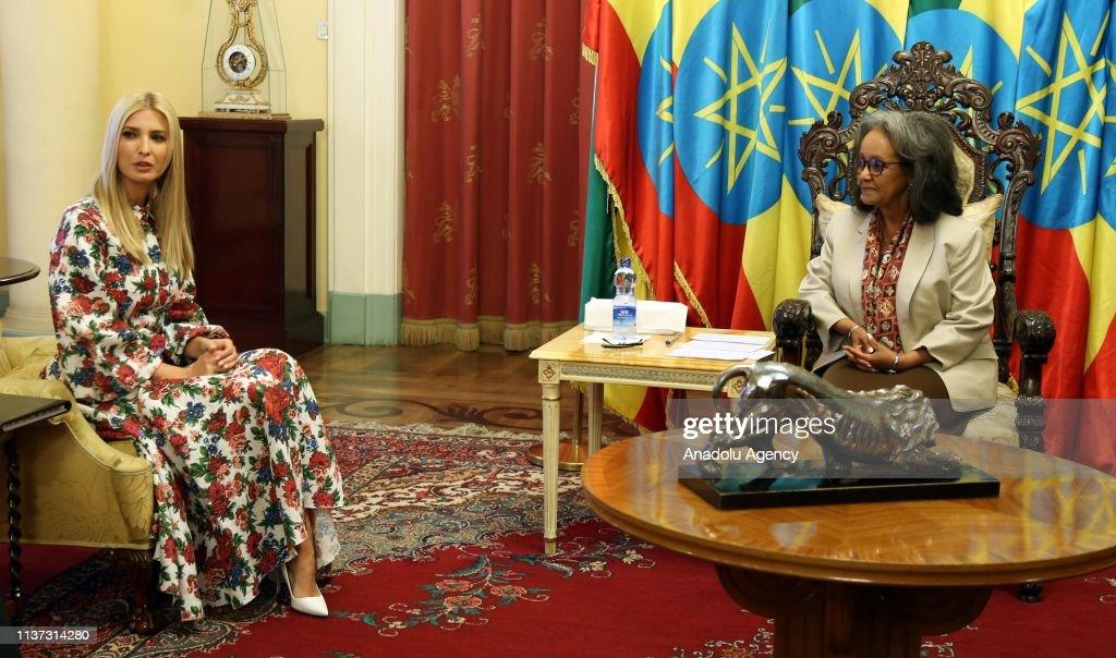 US President's daughter Ivanka Trump in Addis Ababa : Nachrichtenfoto