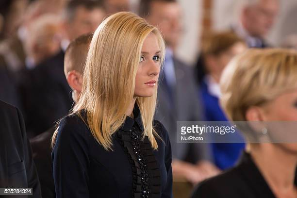 President's daughter Kinga Duda | Mass for intention of Homeland and new President | St John's Archcathedral Warsaw Poland | 06 August 2015