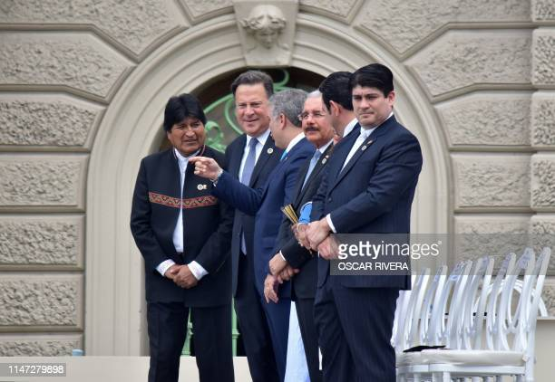 Presidents Evo Morales of Bolivia, Juan Carlos Varela of Panama, Ivan Duque of Colombia, Danilo Medina of the Dominican Republic, Jimmy Morales of...