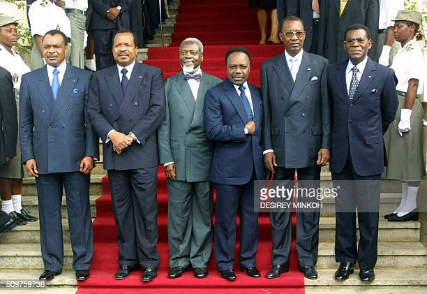 Presidents from Congo Denis Sassou Nguesso from Cameroon Paul Biya from CentrAfrica AngeFelix Patasse from Gabon Omar Bongo from Chad Idriss Deby and...