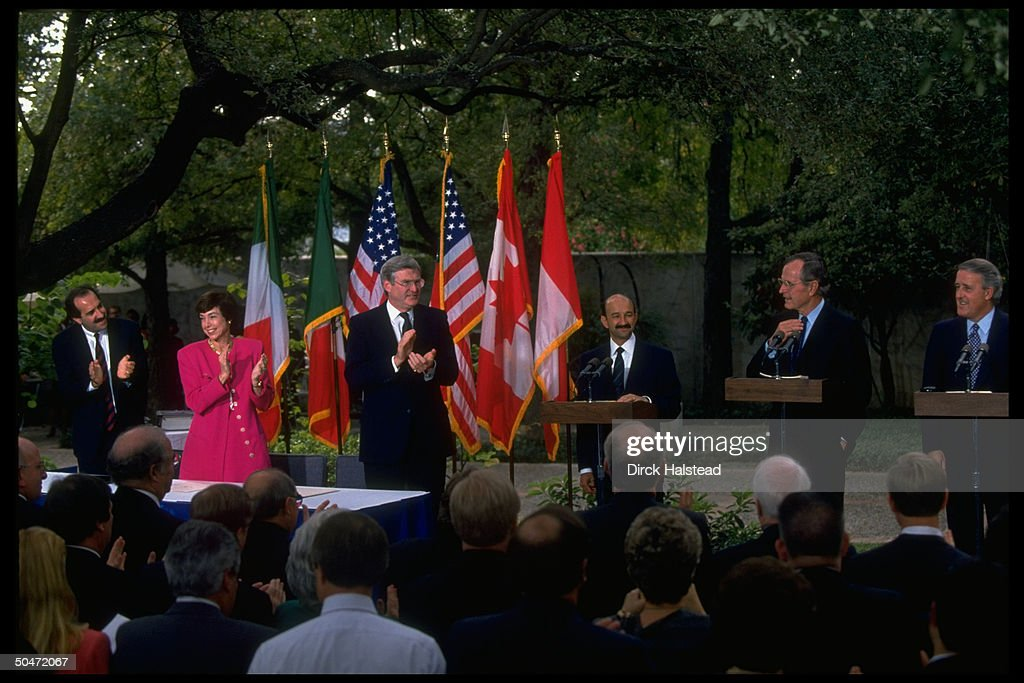 George Bush At Nafta Signing Pictures Getty Images