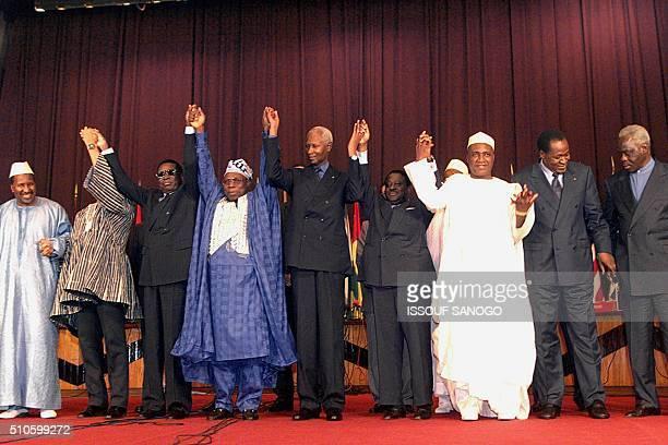 Presidents of Mali Alpha Oumar Konare Ghana Jerry Rawlings Togo Gnassingbe Eyadema Nigeria Olusegun Obasanjo Senegal Abdou Diouf Ivory Coast Henri...