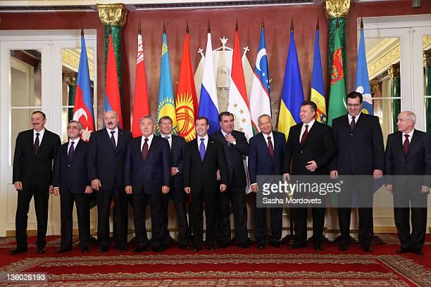 Presidents of the countries of the Commonwealth of Independent States , Ilham Aliyev of Azerbaijan, Serzh Sargsyan of Armenia, Alexander Lukashenko...